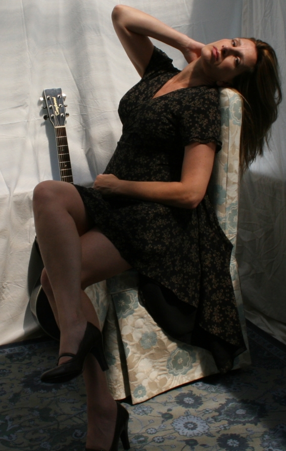Rhonda L Thomas (aka Leigh Thomas), c. 2008. Photo for 'Voices Forgotten' album back cover art.