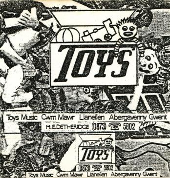 'Toys' vintage cassette cover, c. 1980.