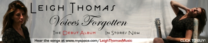 Voices Forgotten, The New Album by Leigh Thomas Maverick Magazine Banner.