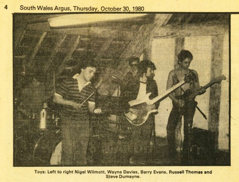 Toys During a Live Performance at Dingwalls Club in London, South Wales Argus - October 30, 1980.