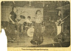 Newport, Wales Band, Toys, During a Live Performance in London - October 20, 1980.